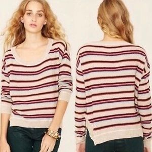 Free People Beach Roadtrip Striped Sweater Cropped